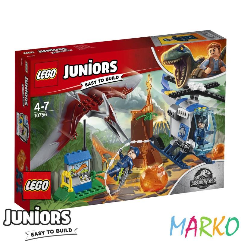 LEGO JUNIORS JURASSIC WORLD 10756 UCIECZKA PRZED PTERANODONEM