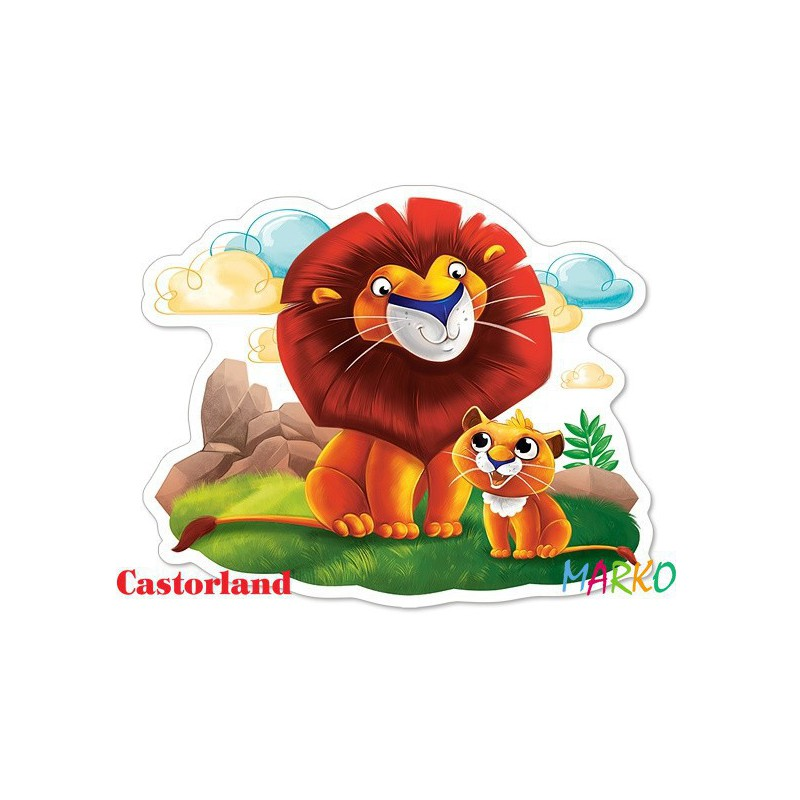 CASTORLAND PUZZLE 12EL MAXI LION CUB AND HIS DAD