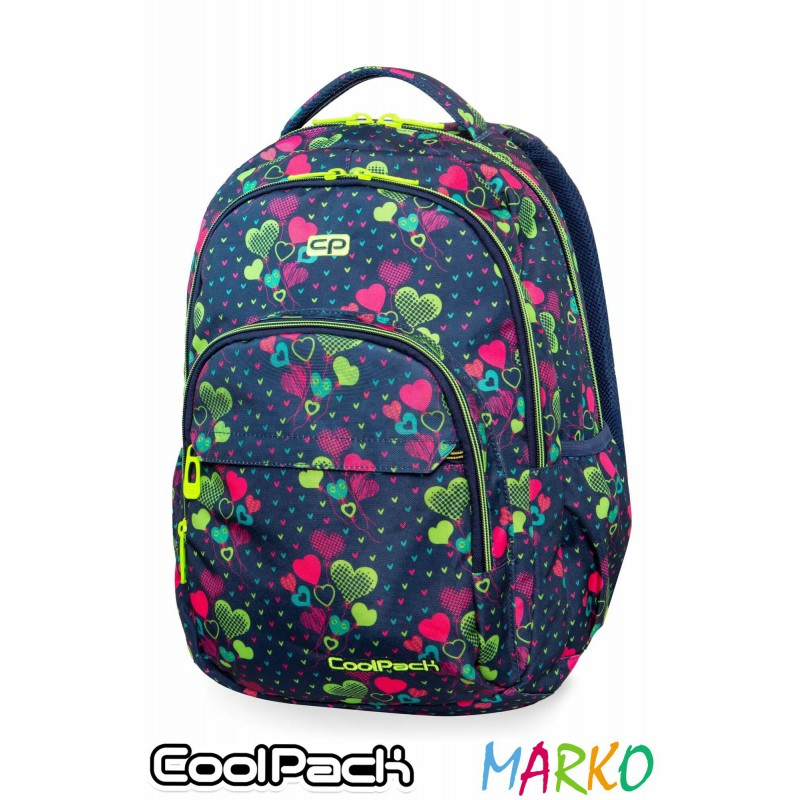 COOLPACK PLECAK BASIC PLUS 27L LIME HEARTS-B03010
