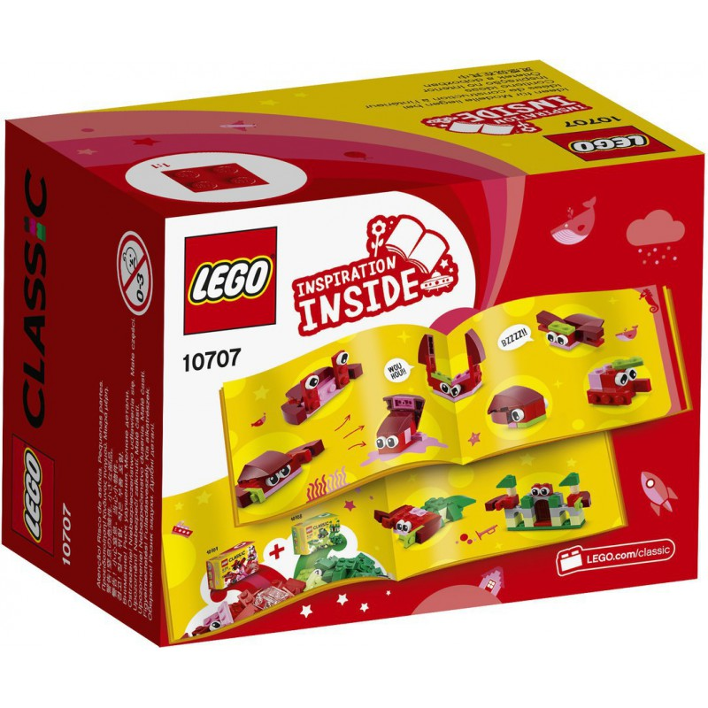 LEGO CLASSIC 10707 ZESTA WKREATYWNY CZERWONY