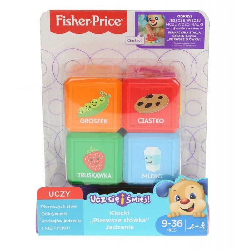 """Fisher-Price Ucz się i śmiej - Klocki """"Pierwsze słówka"""" - Jedzenie FJP29"""