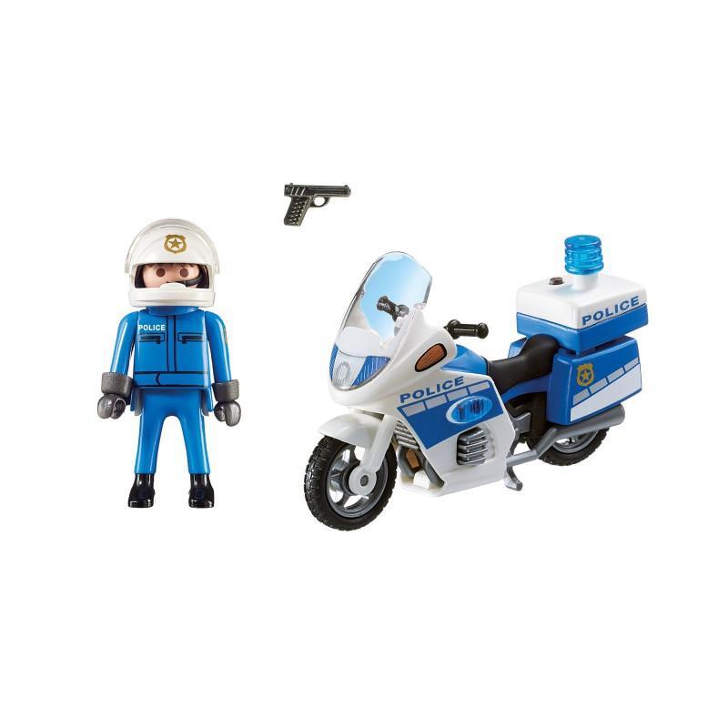 PLAYMOBIL CITY ACTION 6923 MOTOR POLICYJNY ZE ŚWIATŁE LED