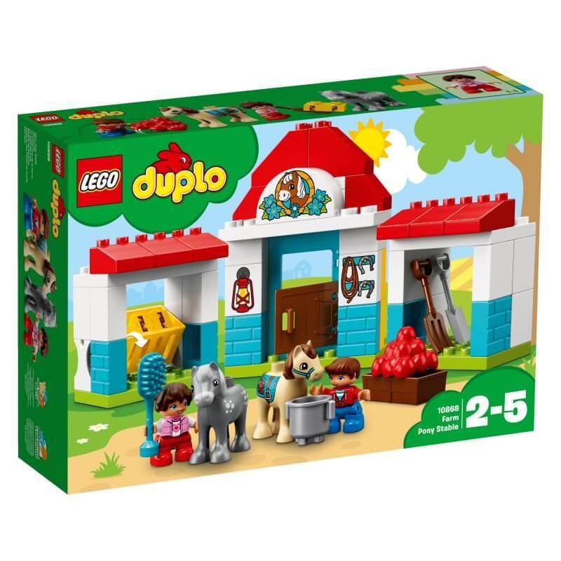 LEGO DUPLO 10868 STAJNIA Z KUCYKAMI